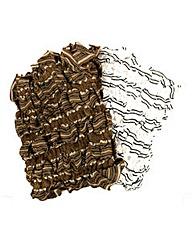 Set Of 2 Striped Scarves