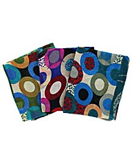 Set Of 3 Abstract Circle Scarves