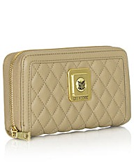 Love Moschino Beige Quilted Purse