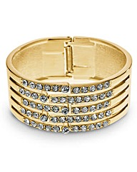 Mood Crystal Gold Panelled Bangle