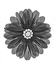 Mood Black Fabric Floral Corsage
