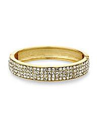 Mood Crystal Embellished Hinged Bangle