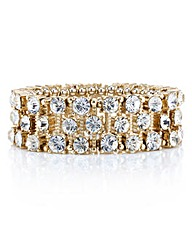 Mood Crystal Gold Stick Stretch Bracelet