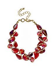 Mood Red Tonal Bead Twist Bracelet