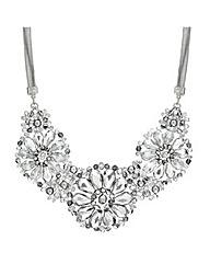 Mood Triple Flower Facet Bead Necklace