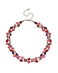 Mood Red Tonal Bead Twist Necklace
