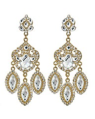 Mood Antique Effect Chandelier Earring