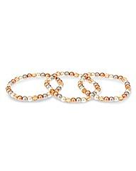 Mood Pearl And Facet Bead Bracelet Set