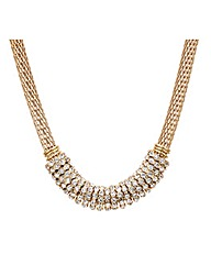 Mood Crystal Embellished Disc Necklace