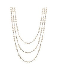 Mood Bead And Pearl Triple Row Necklace