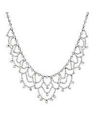 Mood Diamante Vintage Looped Necklace