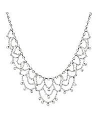 Mood Diamante Vintage Looped Necklace