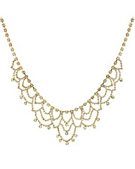 Mood Diamante Crystal Gold Loop Necklace