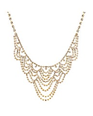 Mood Gold Diamante Loop Necklace