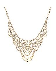 Mood Gold Diamante Loop Necklace