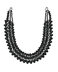 Mood Jet Beaded Collar Necklace