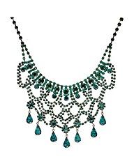 Mood Diamante Loop Teardrop Necklace