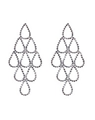 Mood Crystal Teardrop Chandelier Earring