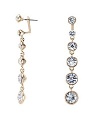 Mood Round Crystal Drop Earring