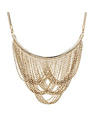 Mood Gold Ball Chain Drape Necklace