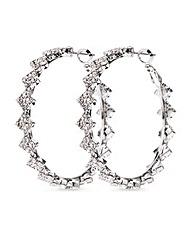 Mood Crystal Link Hoop Earring