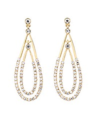 Mood Crystal Double Teardrop Earring