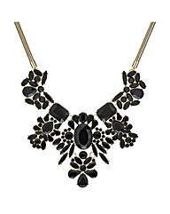 Mood Mixed Stone Cluster Drop Necklace
