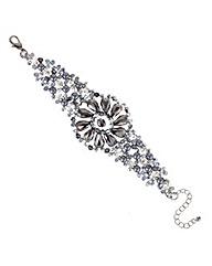 Mood Pearl And Beaded Flower Bracelet