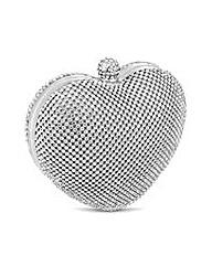 Jon Richard Diamante Heart Clutch Bag