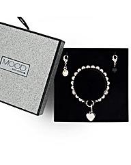 Mood Heart Bracelet And Charm Drop Set