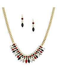 Mood Navette Stone Jewellery Set