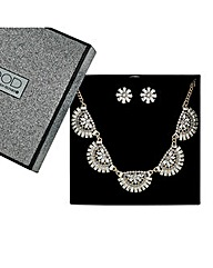 Mood Curved Fan Drop Jewellery Set