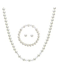 Mood Pearl And Facet Bead Jewellery Set