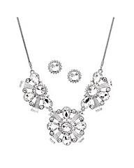 Mood Crystal Triple Drop Jewellery Set