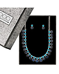 Mood Diamante Stone Drop Jewellery Set