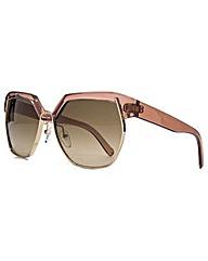 Chloe Geometric Metal Mix Sunglasses
