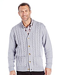 Premier Man Aran Button Cardigan