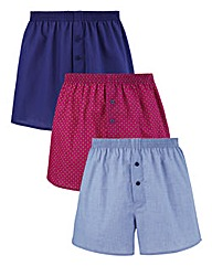 Southbay Pack Of 3 Woven Boxers