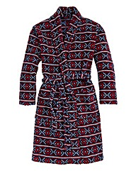 Southbay Fairisle Print Dressing Gown