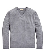WILLIAMS & BROWN V Neck Jumper Long
