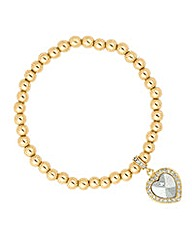 Jon Richard crystal heart charm bracelet