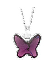 Jon Richard Lilac butterfly necklace