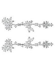 Alan Hannah floral cluster hair pin set
