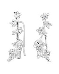 Jon Richard Silver leaf climber earring