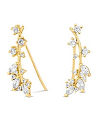 Jon Richard Gold leaf climber earring