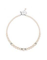 Jon Richard cream pearl rondel necklace