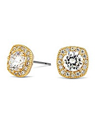 Jon Richard gold square stud earring