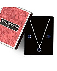 Jon Richard blue solitaire jewellery set
