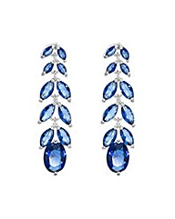 Jon Richard Blue leaf drop earring