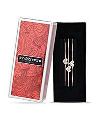 Jon Richard Pave heart toggle bracelets